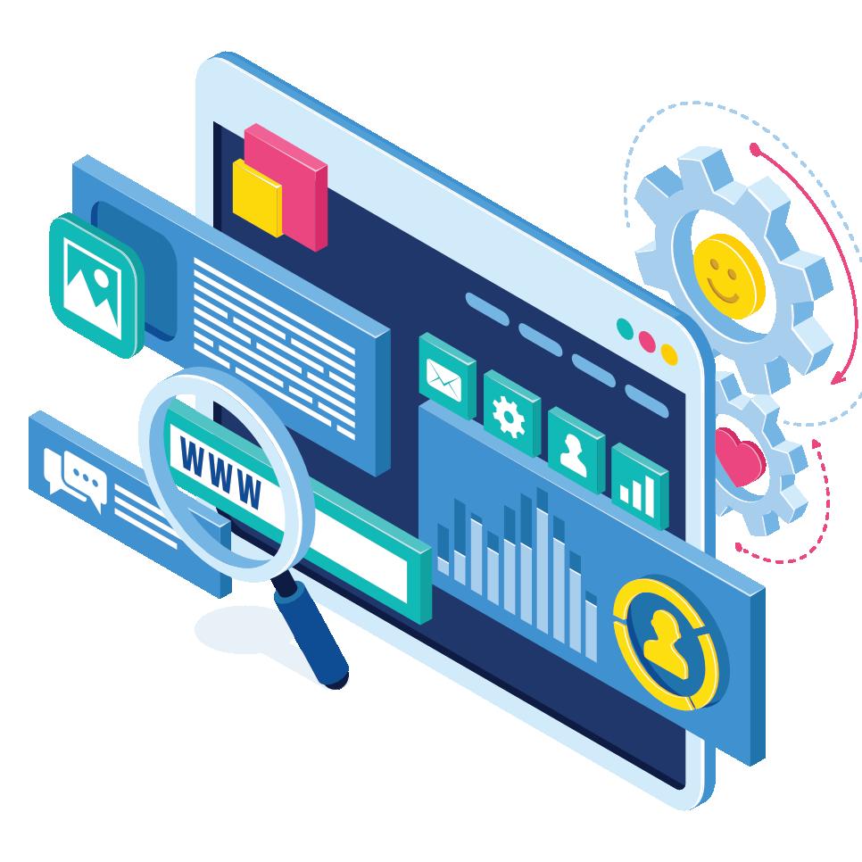 Website tools illustration